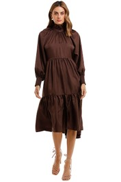 Husk Manor Dress Chocolate Brown