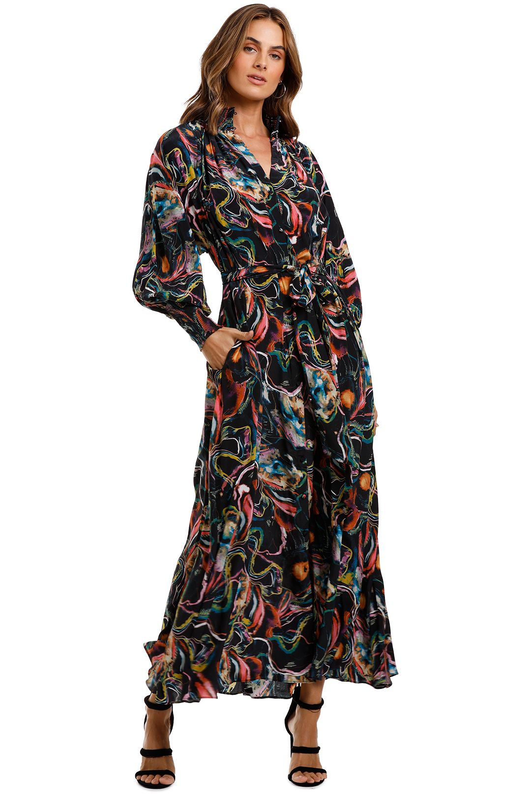 Husk Mont Marte Dress Abstract print