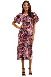Husk Paradiso Dress Print Midi Length