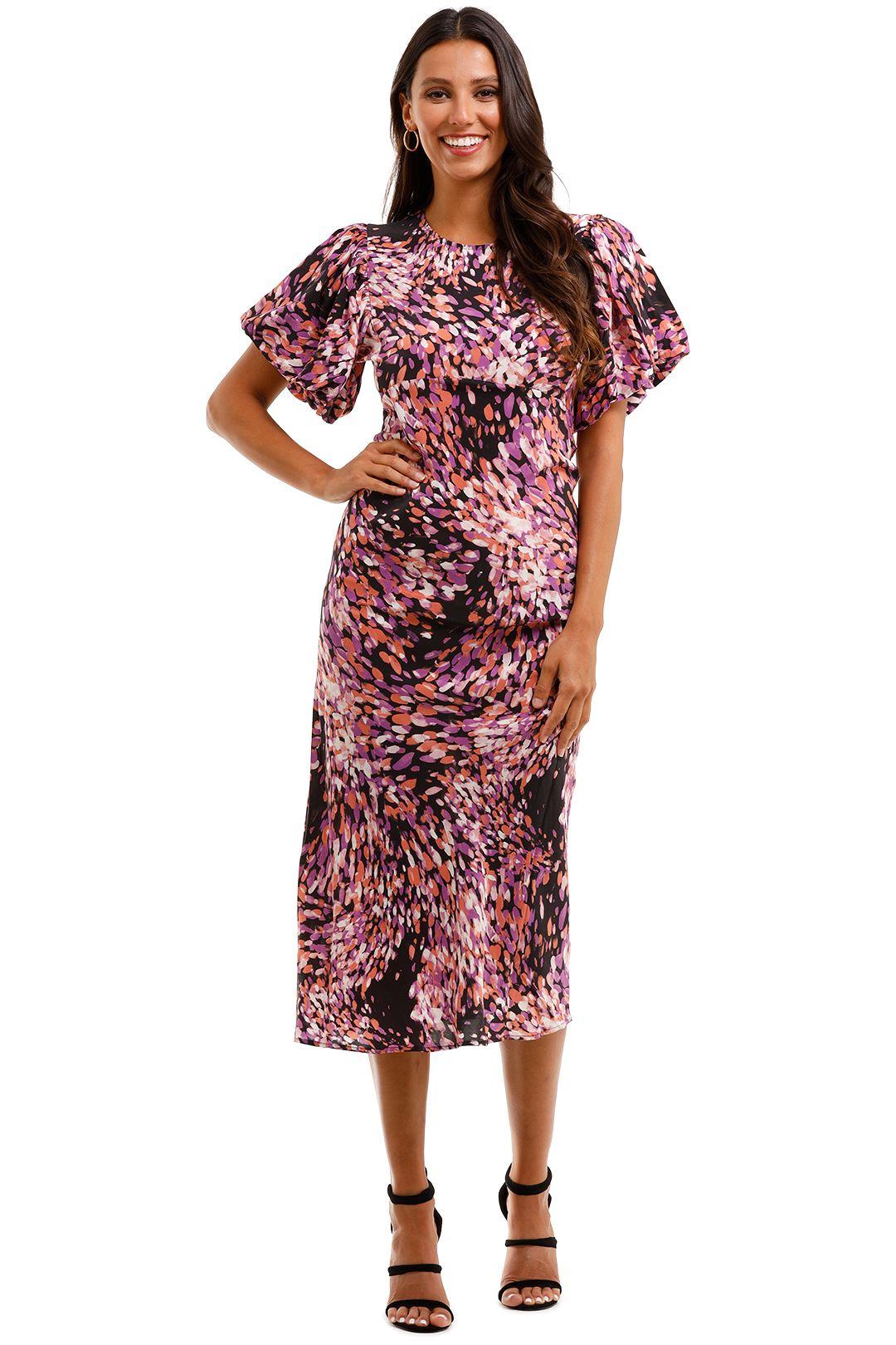 Husk Paradiso Dress Print Midi Length