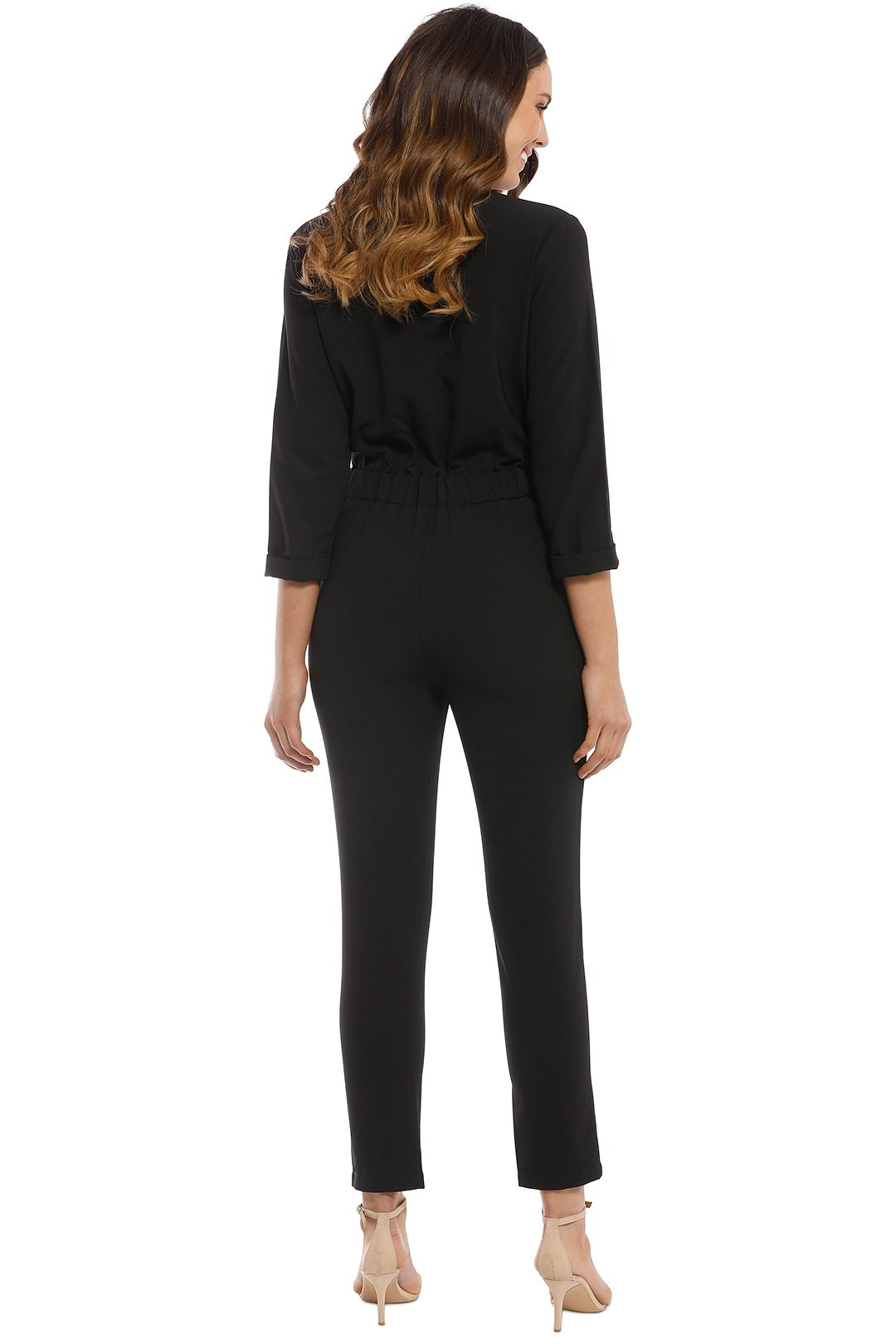 Iris and Ink - Liberty Crepe Jumpsuit - Black - Back