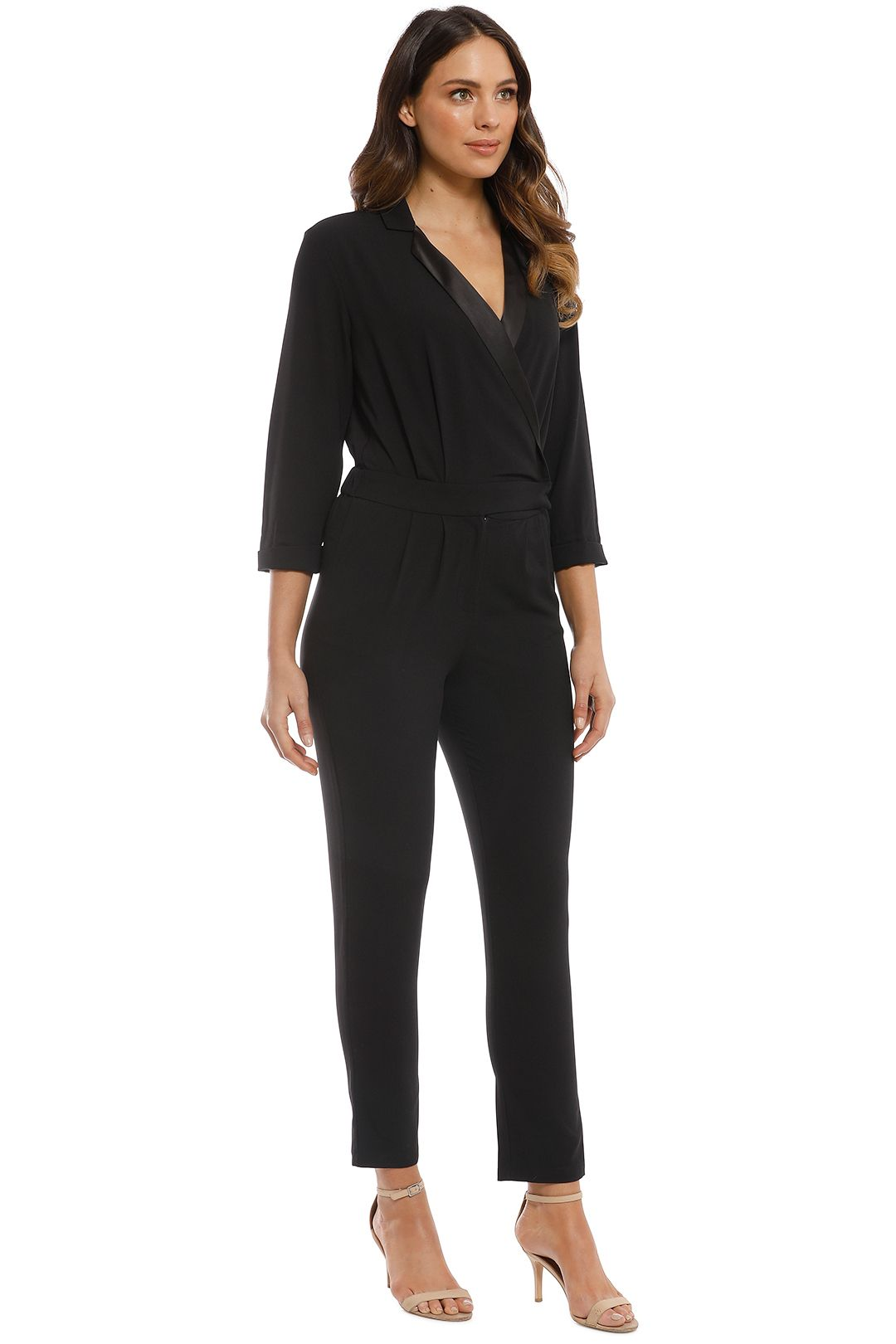 Iris and Ink - Liberty Crepe Jumpsuit - Black - Side