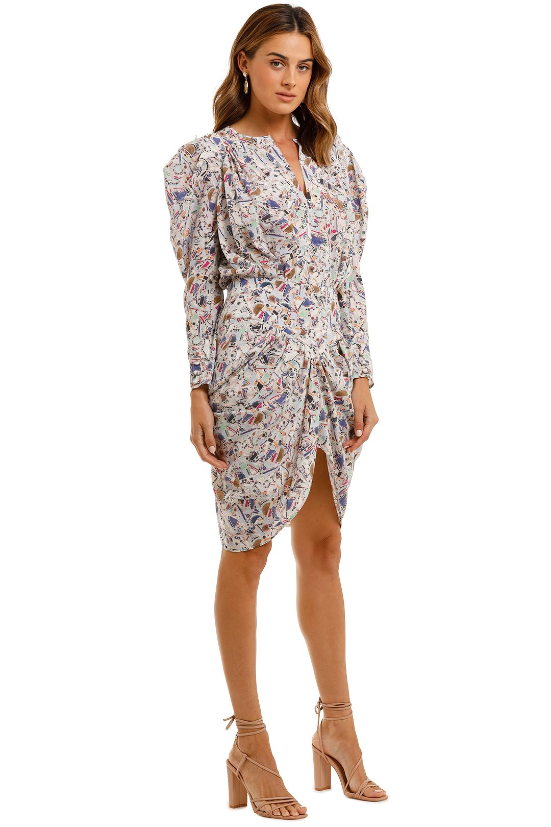 Isabel Marant Margaretia Short Dress long sleeve