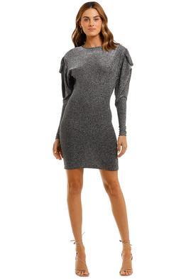 Isabel Marant Waden Dress shiny lurex