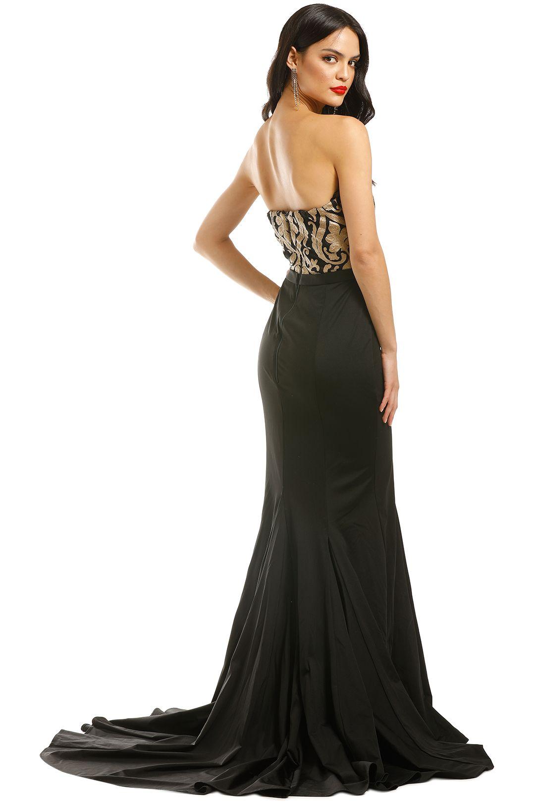 Jadore-Elsa-Gown-Gold-Black-Back