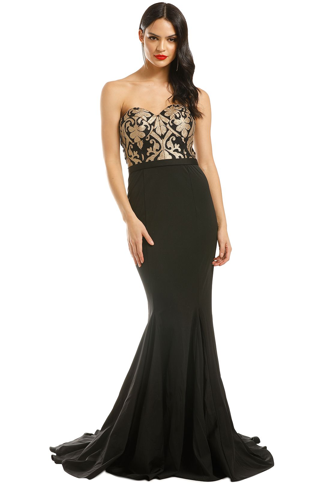 Jadore-Elsa-Gown-Gold-Black-Front