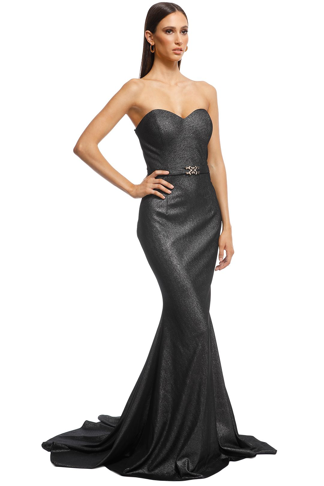 Jadore - Lucille Gown - Platinum - Side