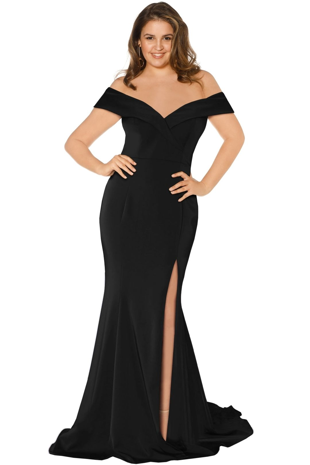 Jadore - Shae Gown - Black - Front