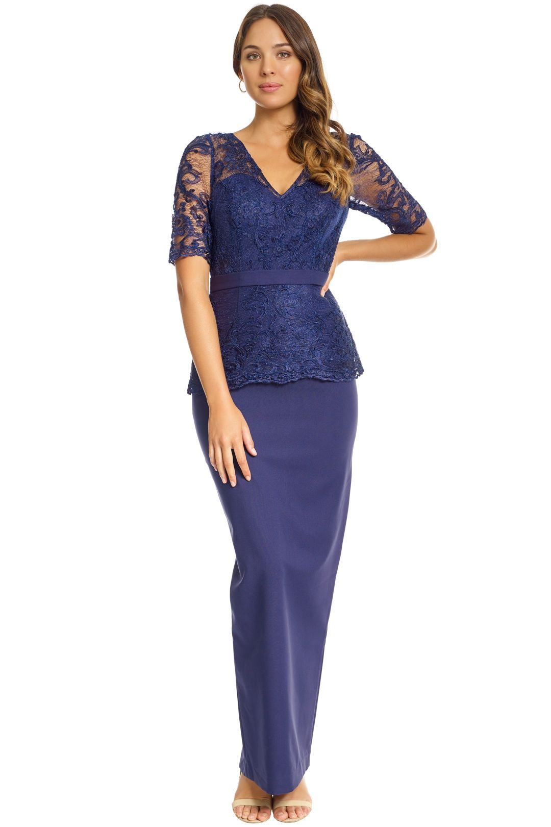 Jadore - Talia Dress - Navy - Front