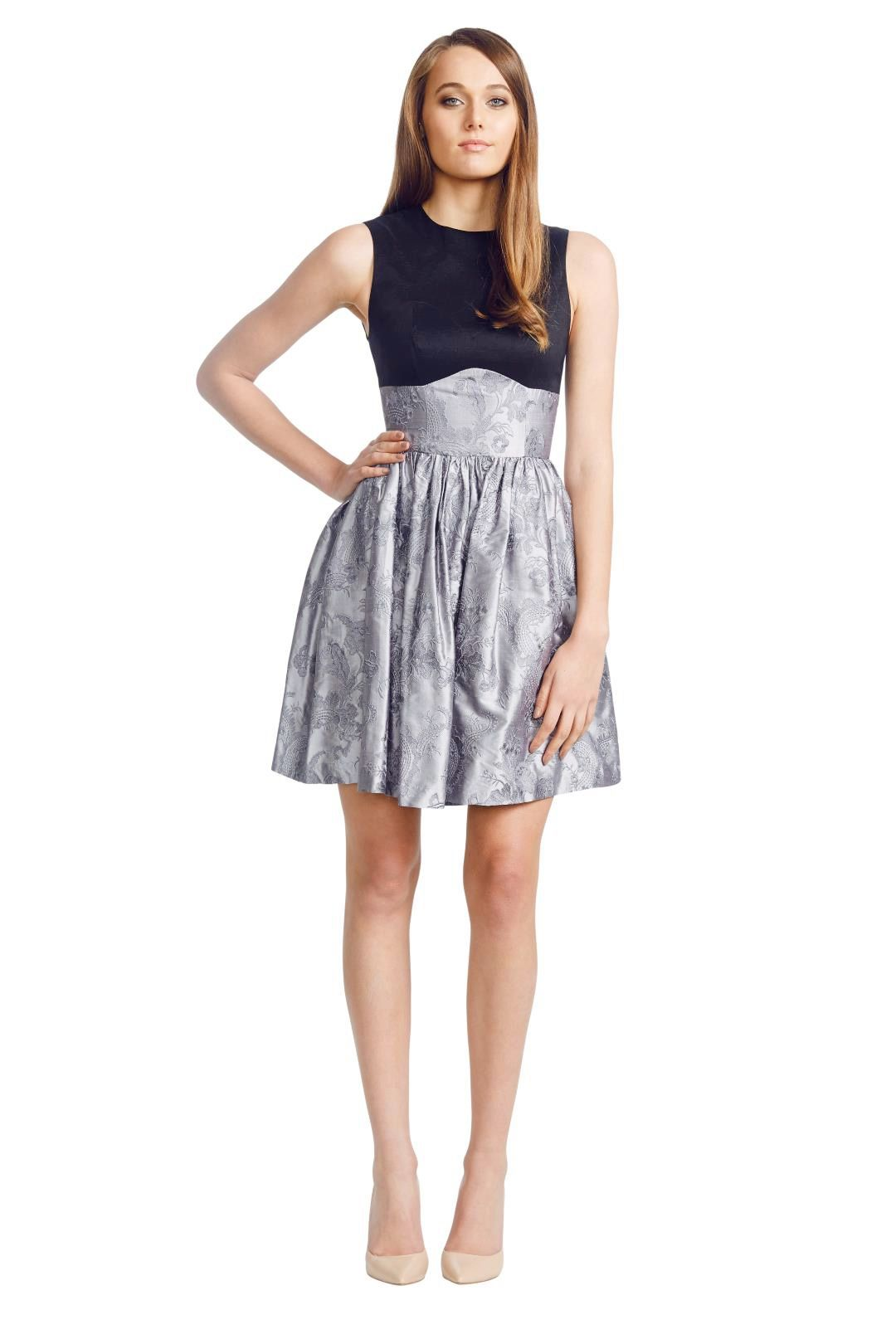Jayson Brunsdon - Pompadour Dress - Black - Front