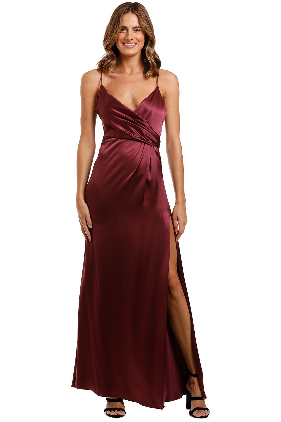 Jill Jill Stuart Slip Gown Burgundy