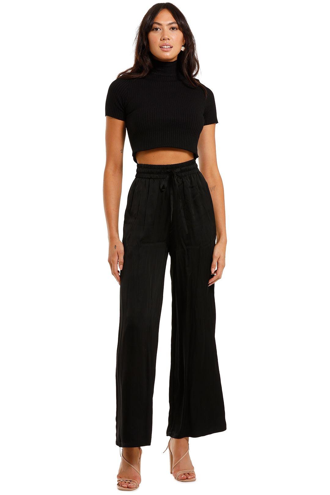 Jillian Boustred Black Lounge Trouser high waist