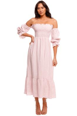 Jillian Boustred Esther Dress Pink Stripe
