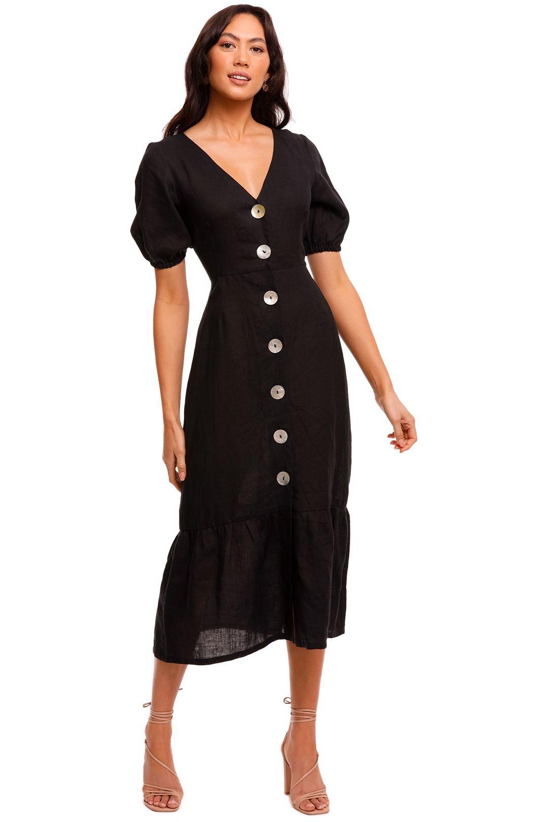 Jillian Boustred Liberty Dress Black