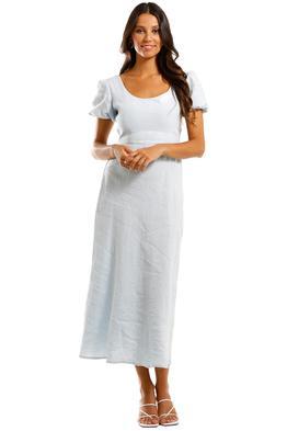 Jillian Boustred Natasha Maxi Dress Powder Blue