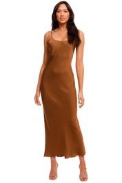Jillian Boustred Ollie Slip Dress Coffee