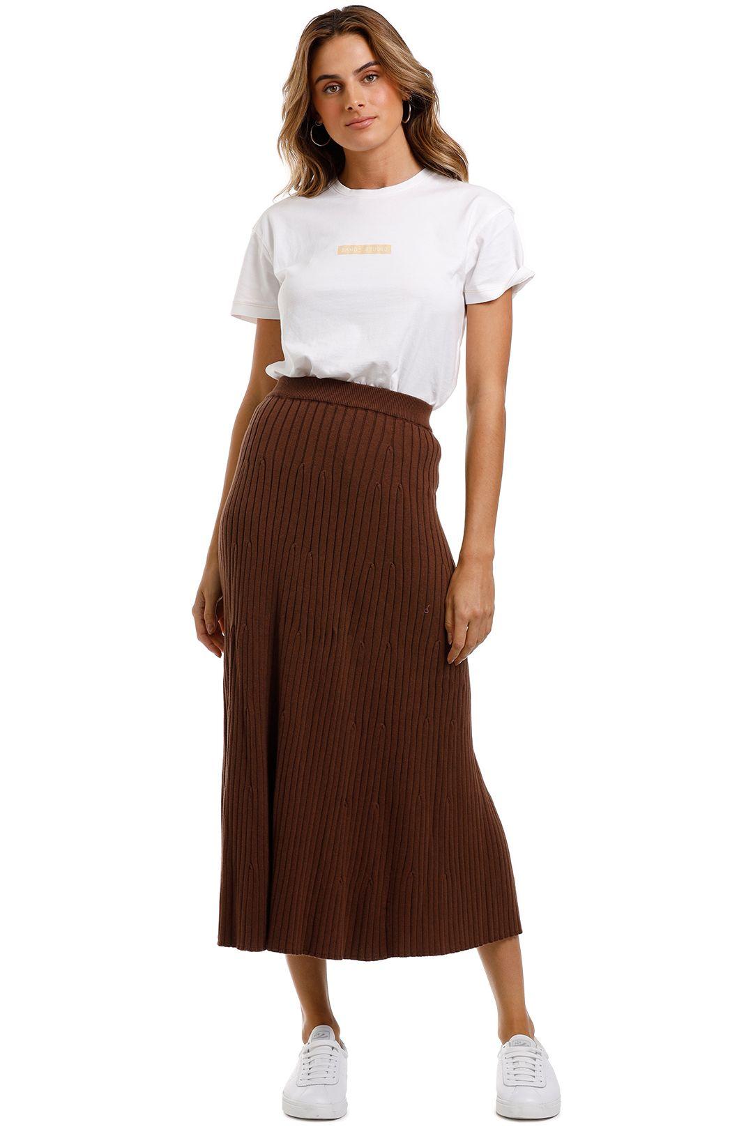 Jillian Boustred Oscar Ribbed Skirt Knit