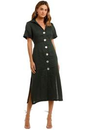 Jillian Boustred Safari Midi Dress v neck