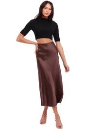 Jillian Boustred Scarlet Slip Skirt Chocolate