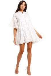 Joslin Alice Ramie Mini Shirt Dress ruffle