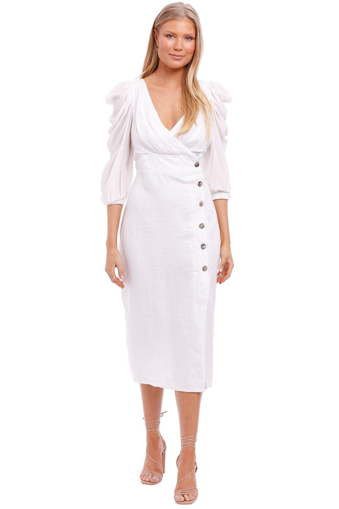 Joslin Danielle Linen Silk Wrap Dress