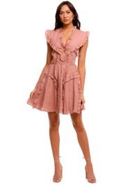 Joslin Kayla Linen Mini Dress blush
