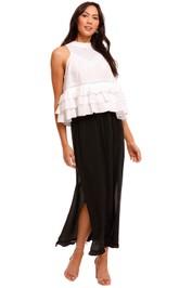 Joslin Lillie Silk Midi Skirt black