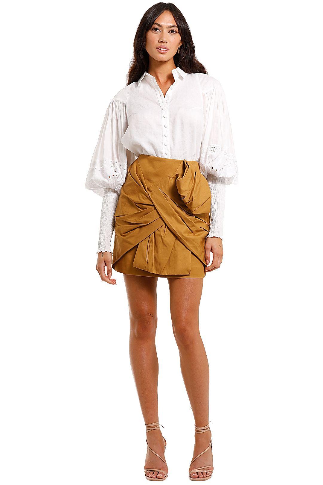 Joslin Sarina Linen Cotton Shirt Lace