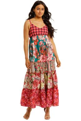 Kachel-Lexi-Mixed-Print-Tiered-Maxi-Dress-Front