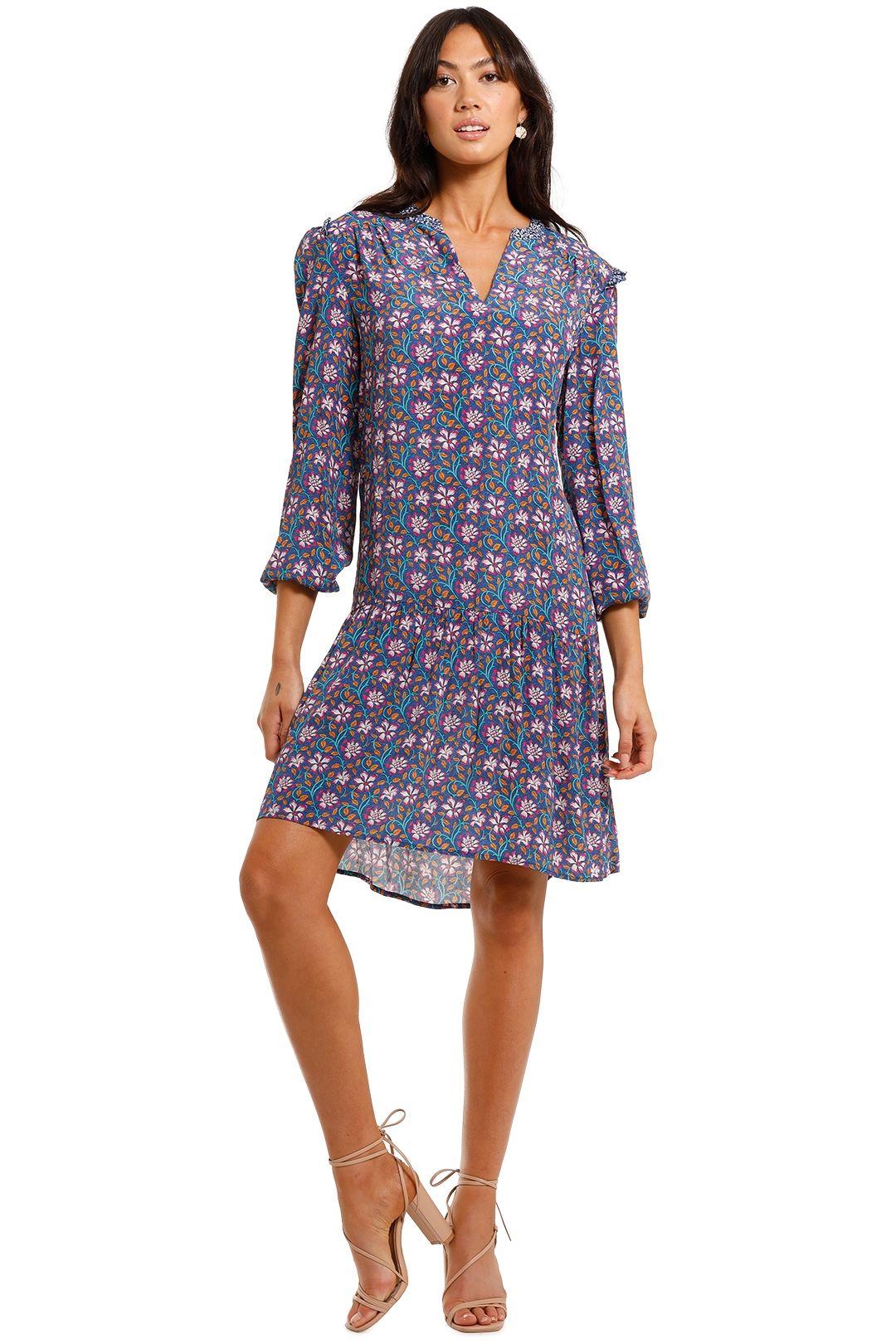 Kachel Lisa V Neck Mini Dress