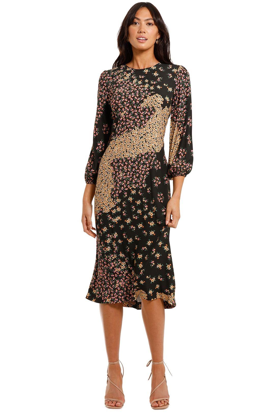 Kachel Stella Round Neck Midi Dress