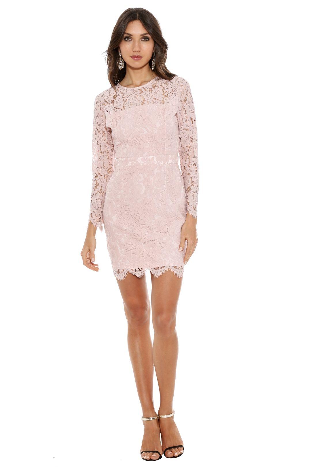 Karla Grimaldi - Carla Lace Mini Dress - Pink - Front