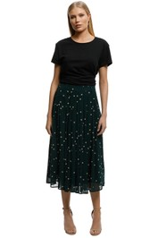 Kate-Sylvester-Dotty-Skirt-Forest-Green-Front