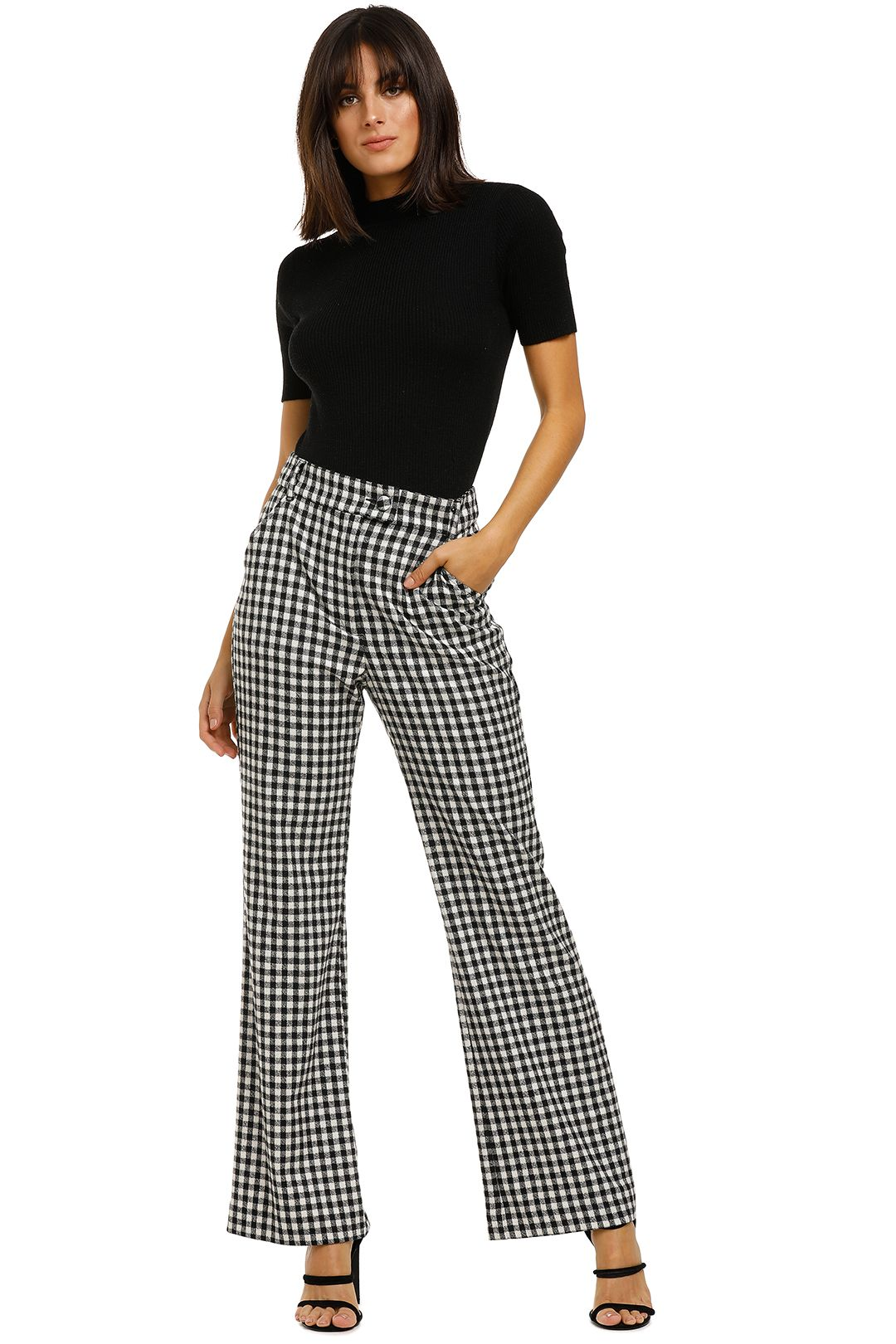 Kate-Sylvester-Josephina-Trousers-Gingham-Front