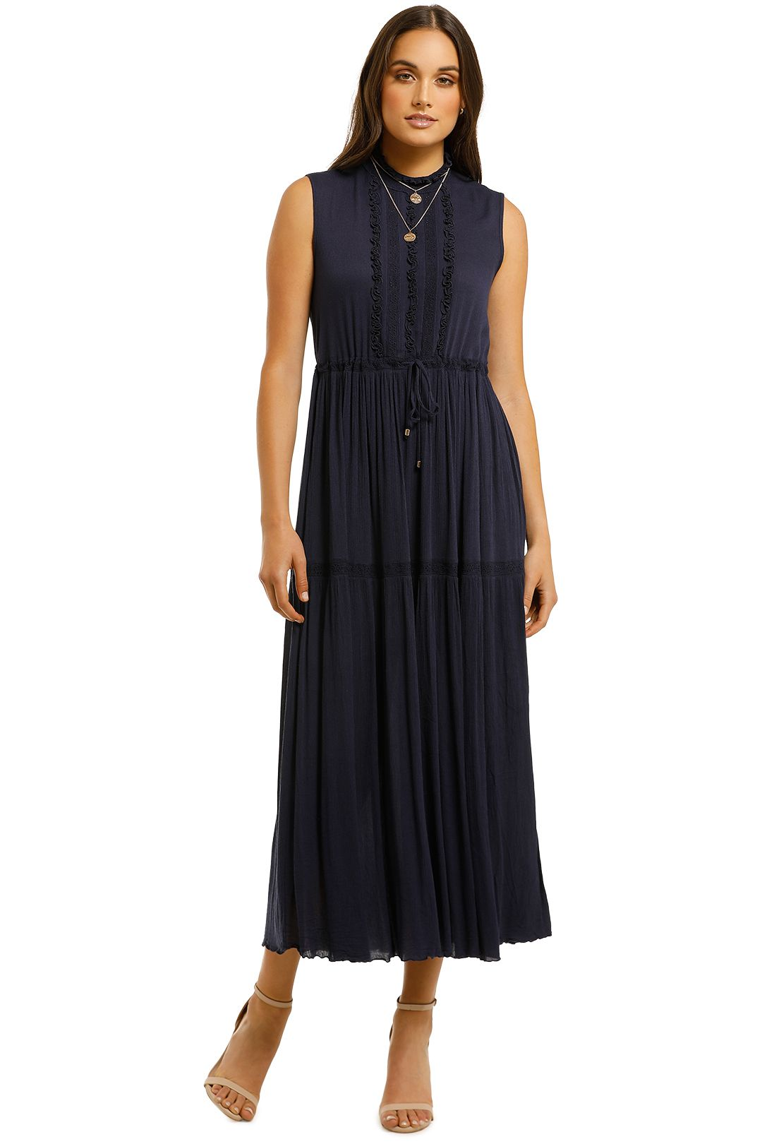 Kate-Sylvester-Sea-Breeze-Tea-Dress-Navy-Front