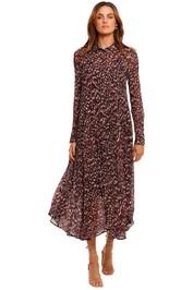 Kate Sylvester Connor Long Sleeve Shirt Dress midi