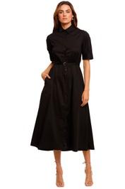 Kate Sylvester Jo Short Sleeve Midi Dress shirt