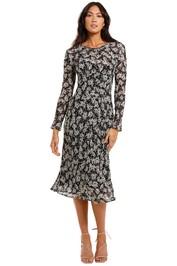 Kate Sylvester Maeve Dress Floral black white