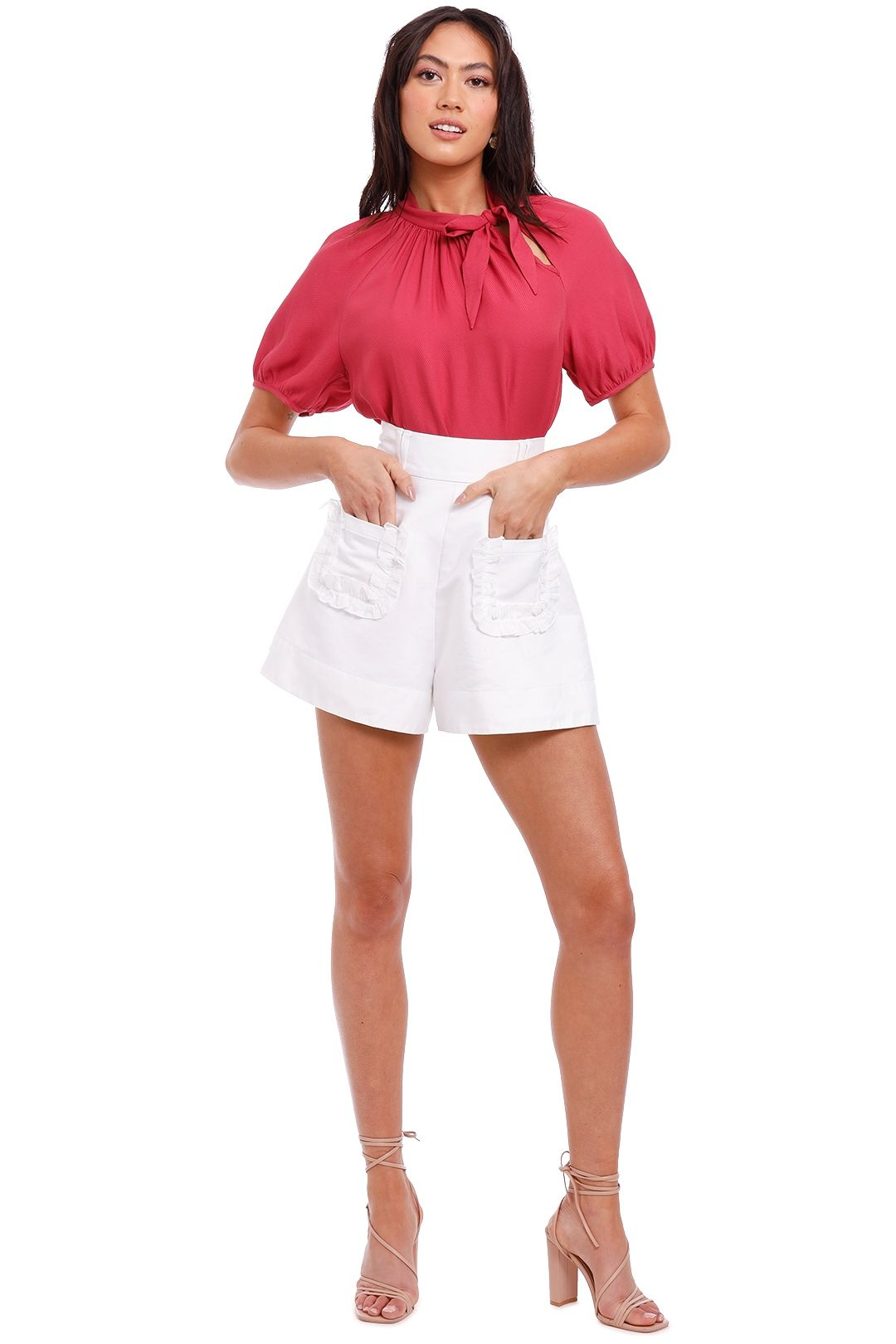 Kate Sylvester Olive Top pink fuschia