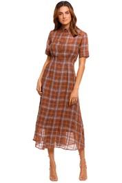 Kate Sylvester Paulina Long Dress plaid