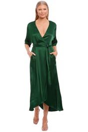 Kate Sylvester Zelda Midi Dress Emerald green
