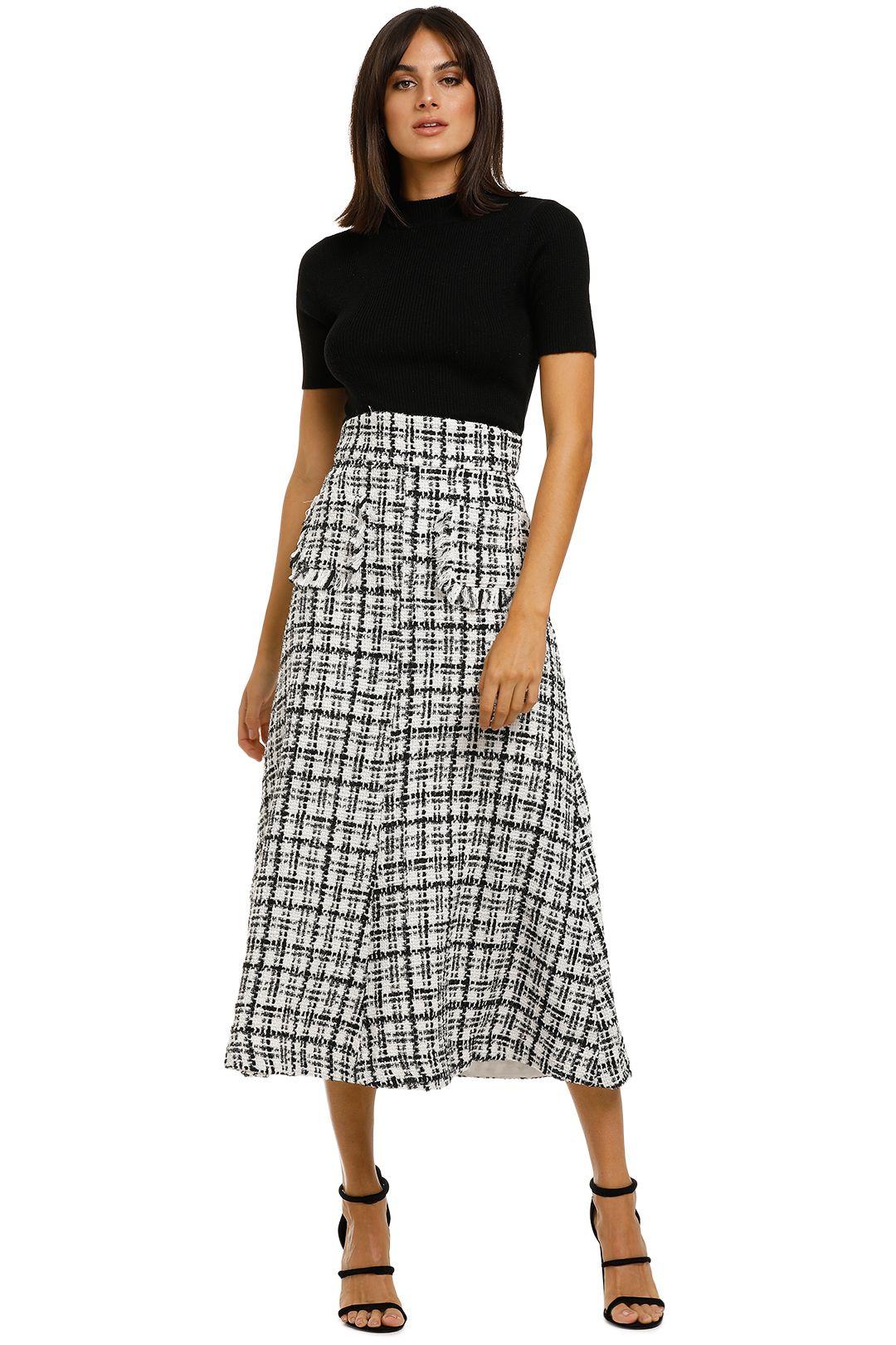 Keepsake-the-Label-Abundance-Skirt-Porcelain-Tweed-Front