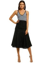 Keepsake-The-Label-Alcazar-Skirt-Black-Front
