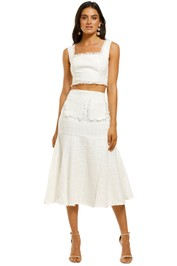Keepsake-The-Label-Alcazer-Top-and-Skirt-Set-Porcelain-Front