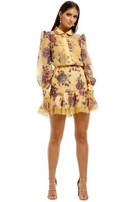 Keepsake The Label - Atomic LS Mini Dress - Butterscotch Garden