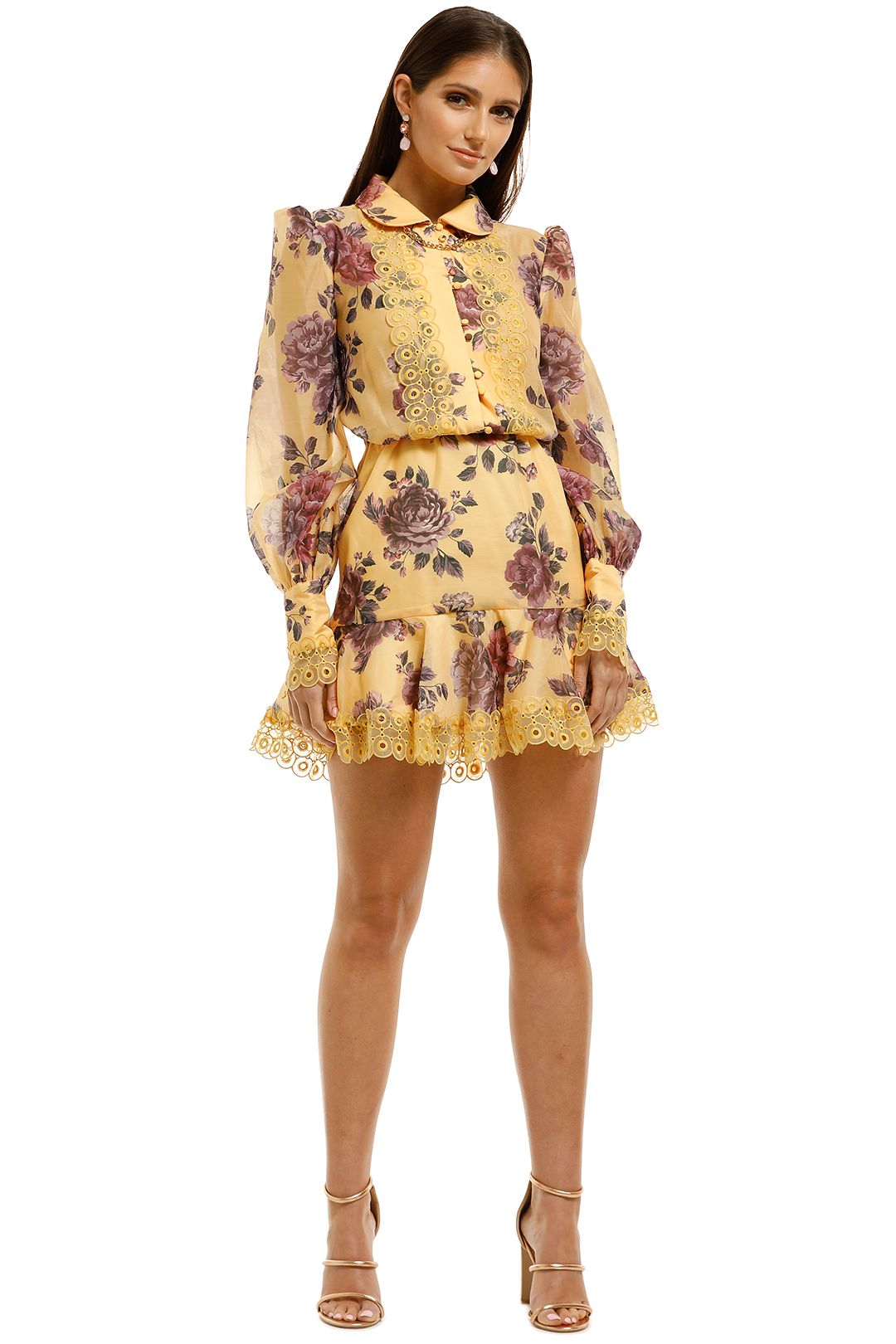 Keepsake-the-Label-Atomic-LS-Mini-Dress-Butterscotch-Garden-Front