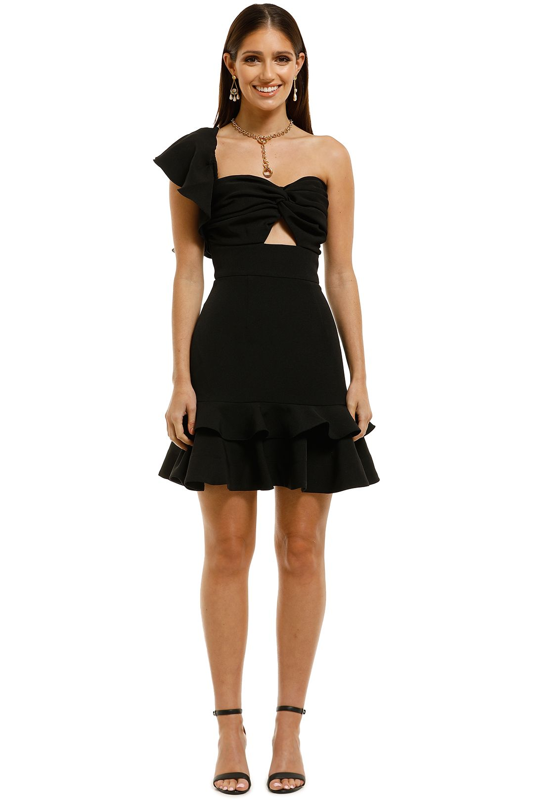 Keepsake-the-Label-Delight-Mini-Dress-Black-Front