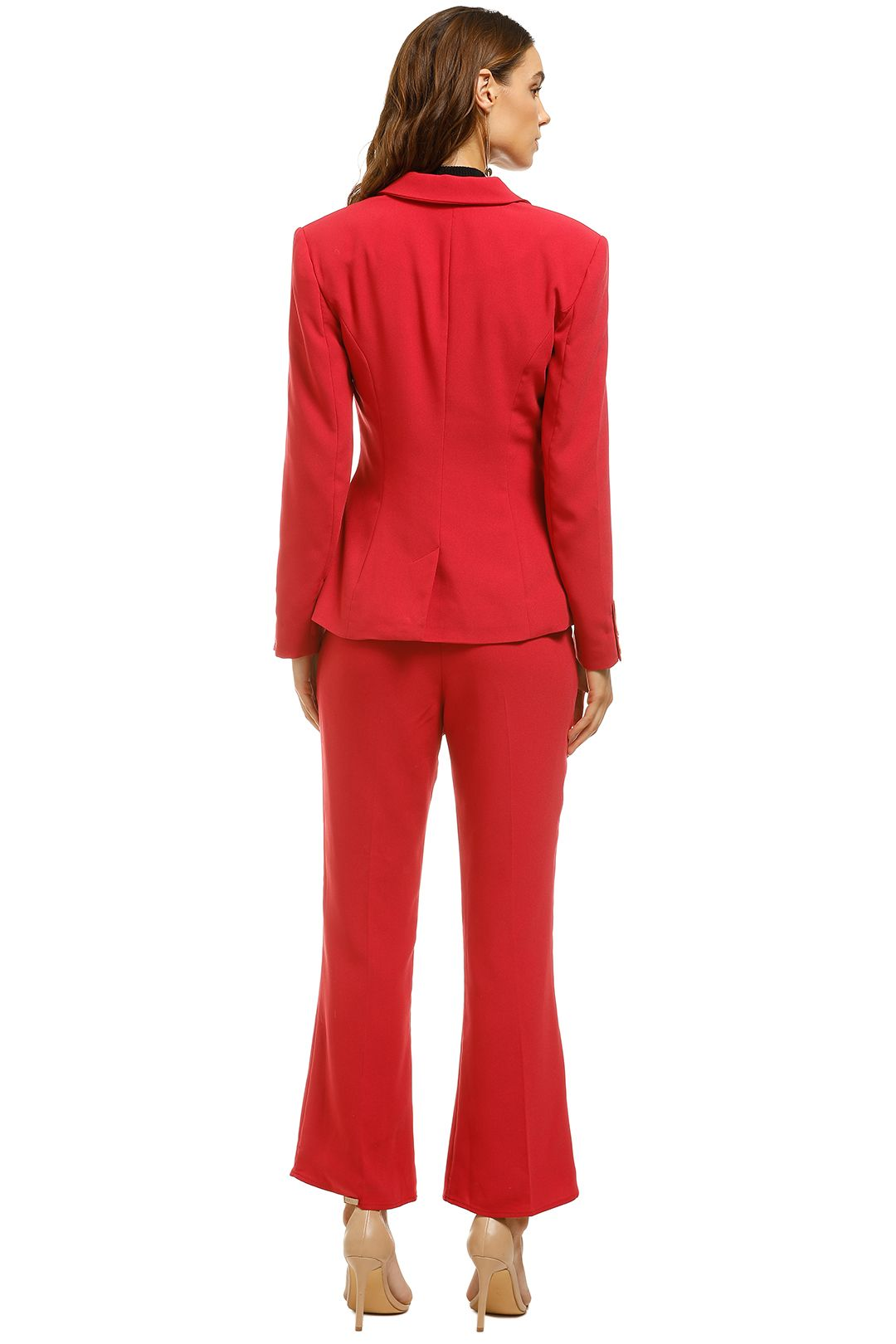 Keepsake-The-Label-Estate-Blazer-and-Pant-Set-Scarlet-Back