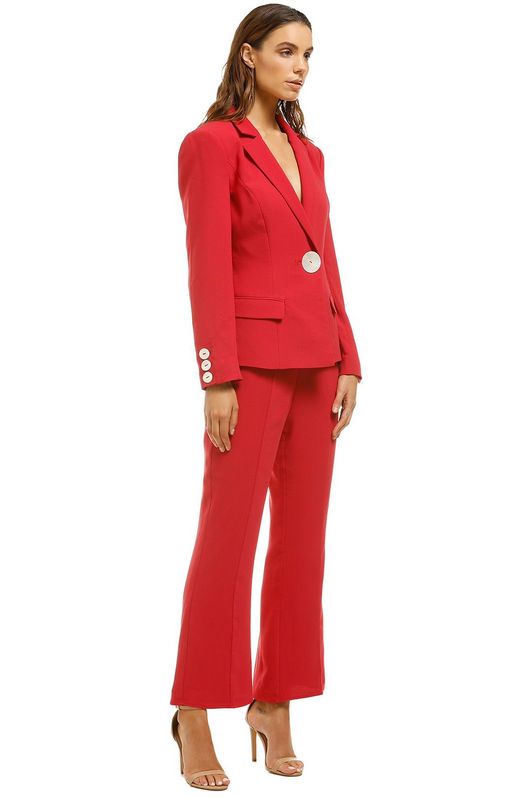 Keepsake-The-Label-Estate-Blazer-and-Pant-Set-Scarlet-Side