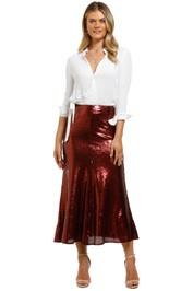 Keepsake-the-Label-Farewell Skirt-Ruby-Front